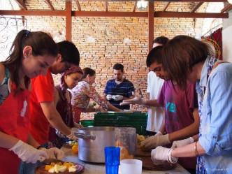 Primera disco sopa argentina - equipo de cortado