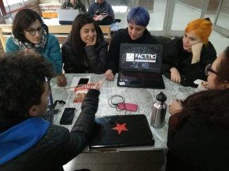 Trabajadoras de cooperativas de software. Foto: Twitter Facttic